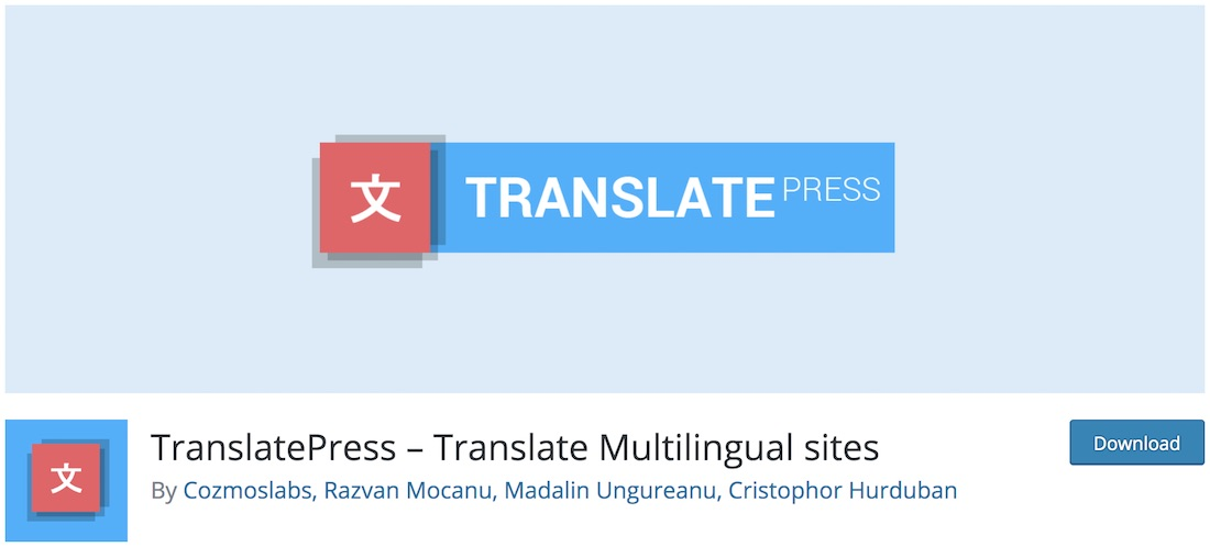 translatepress wordpress multilingual plugin