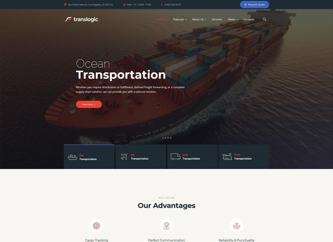 Translogic | Logistics & Transportation WordPress Theme