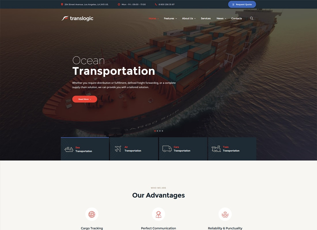 Translogic | Logistics & Transportation WordPress Theme