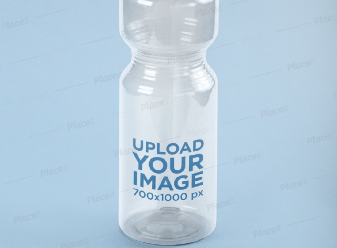 translucent sports bottle mockup