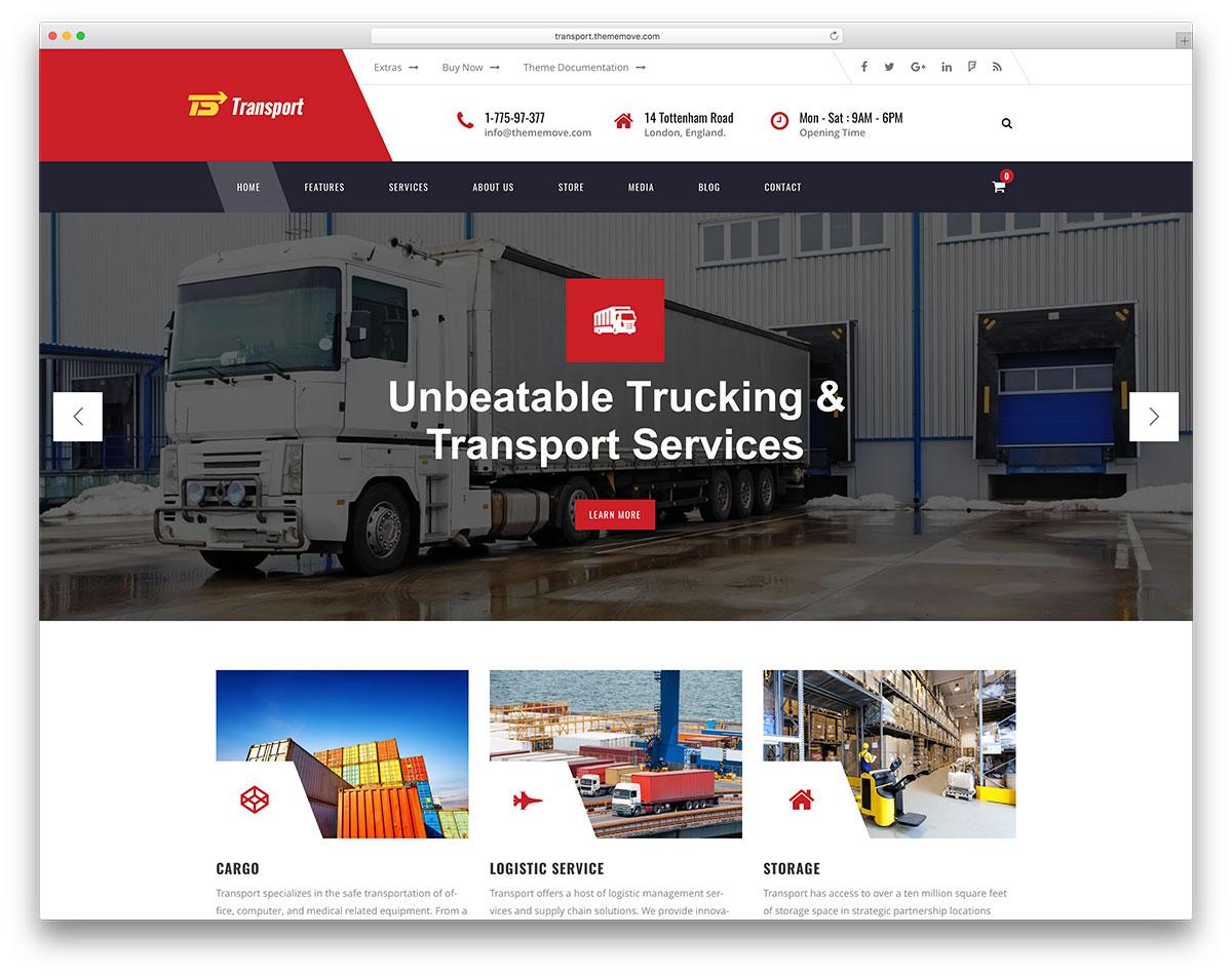 37 Top Transportation & Logistics WordPress Themes 2019 - Colorlib