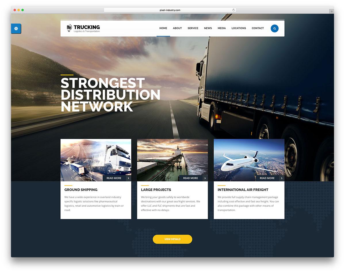 Transportation And Logistics Wordpress Theme
