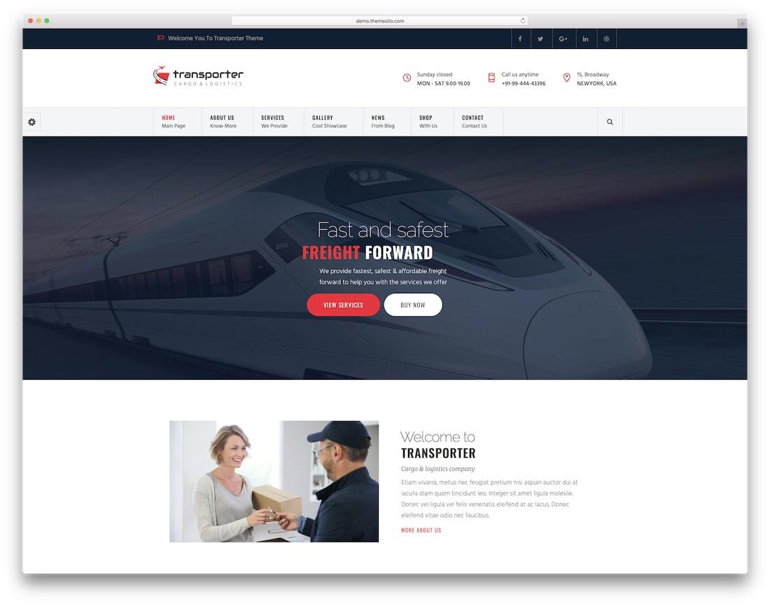 transporter joomla business template