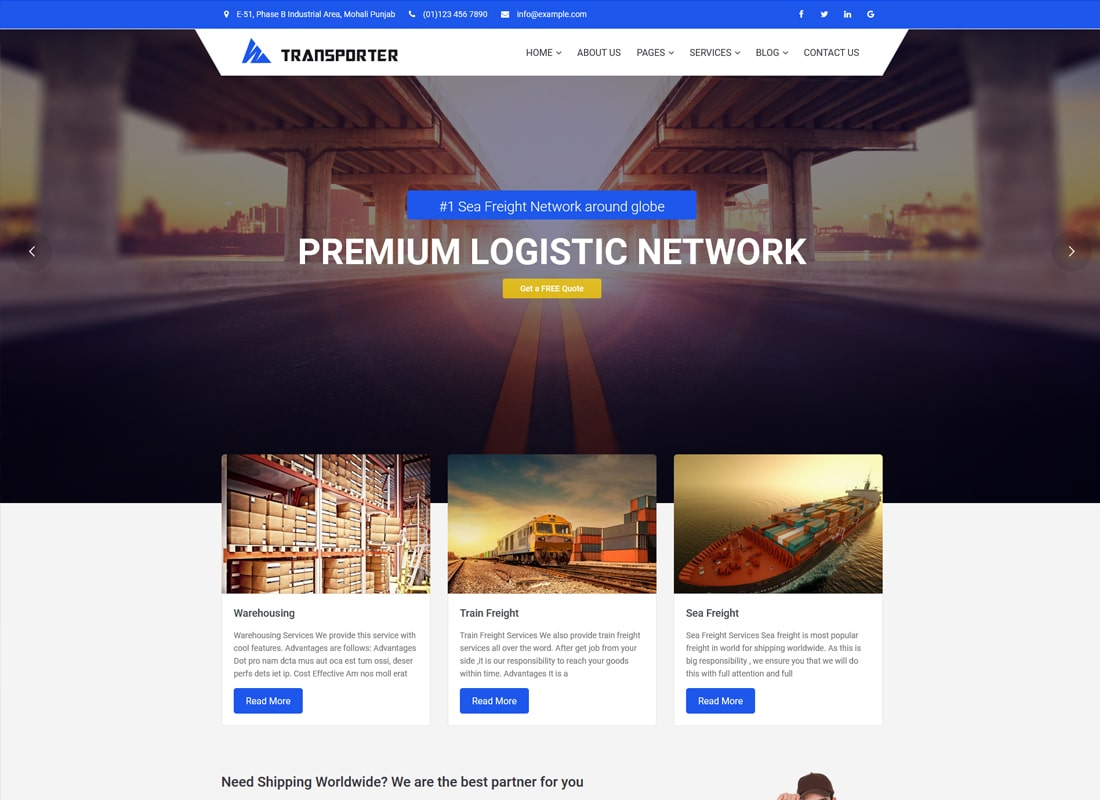 Transporter | Transportation & Logistics WordPress Theme