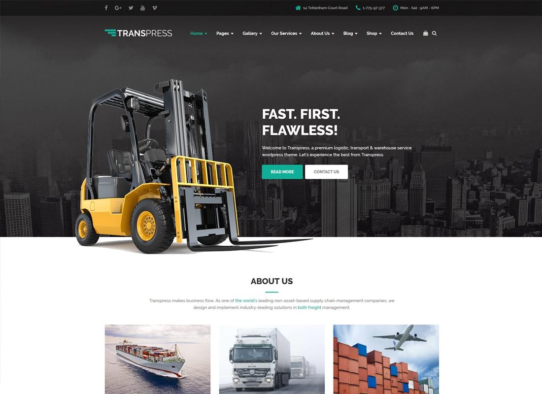 Transpress | Transport, Logistics and Warehouse WordPress Theme