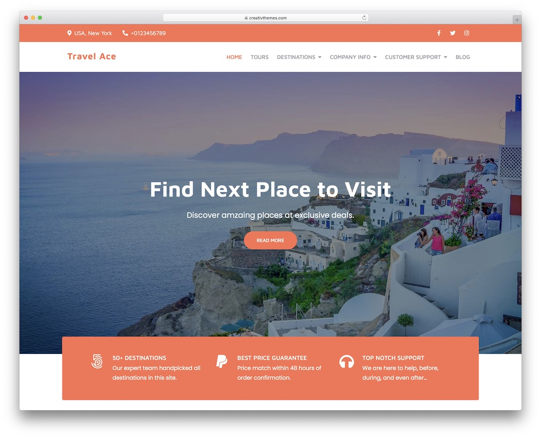 travel ace free wordpress theme