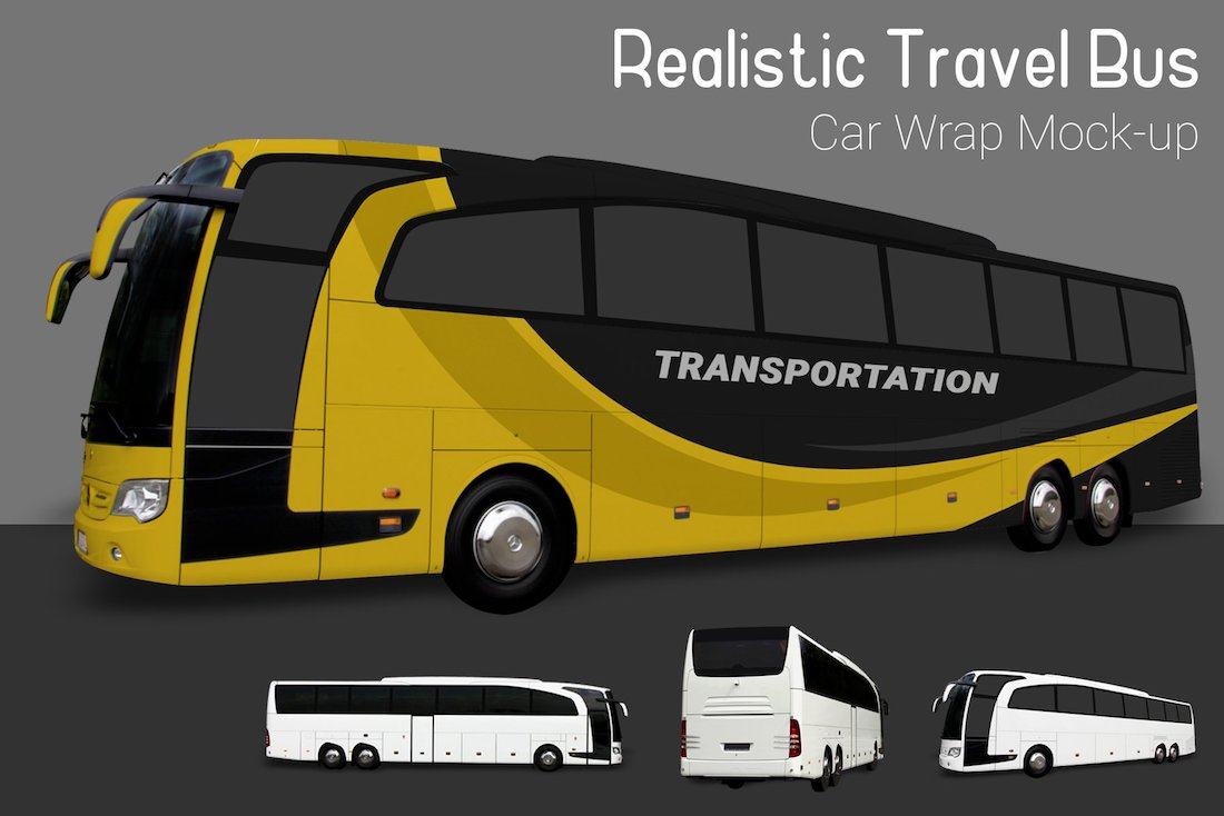 travel bus mock-up