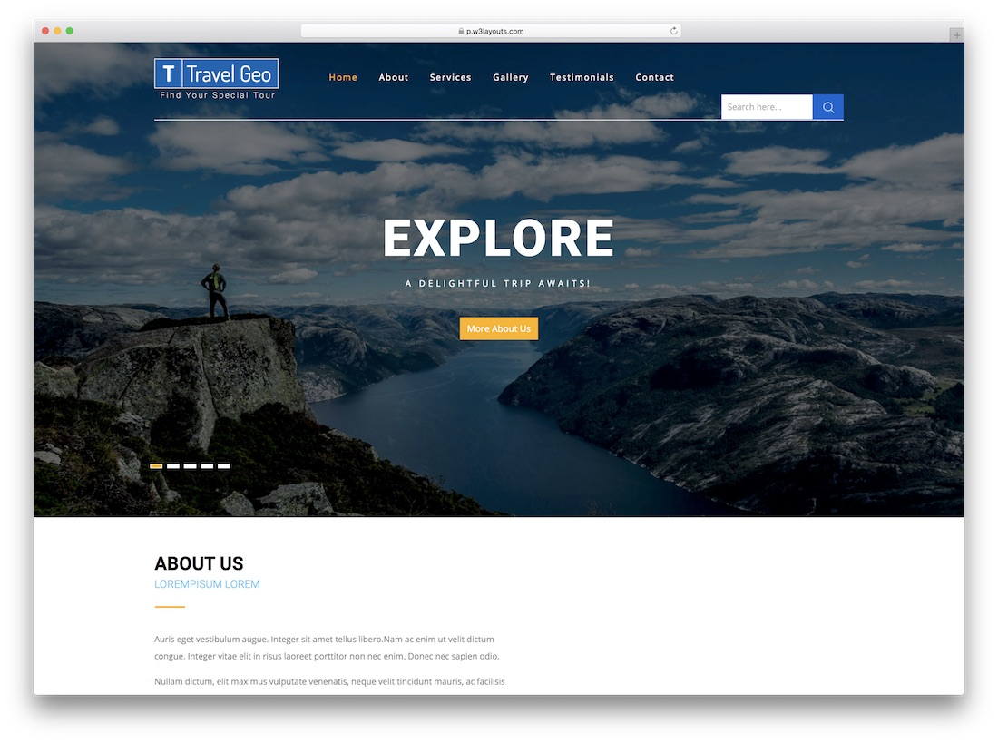 travel geo directory website template