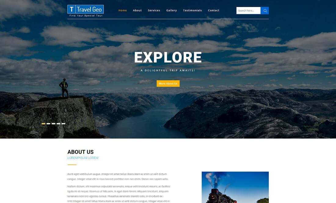 travel geo free directory website template