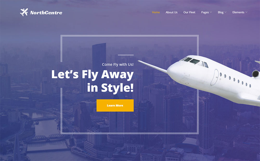 North Centre - Private Airline WordPress Theme