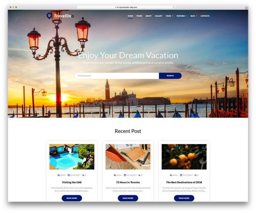 Travel Hotel Wordpress Themes