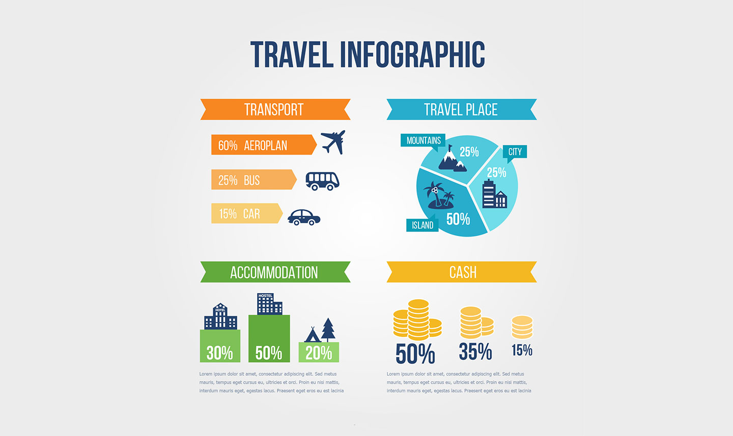 Top Free 28 Vector Templates For Travel Infographics