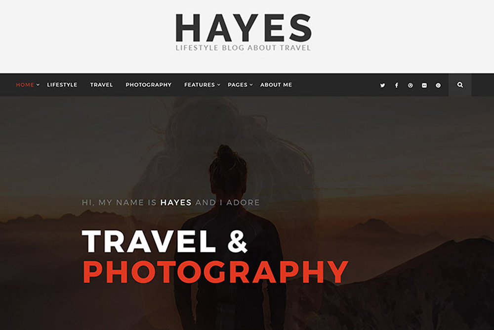 Hayes - Travel Blog WordPress Theme