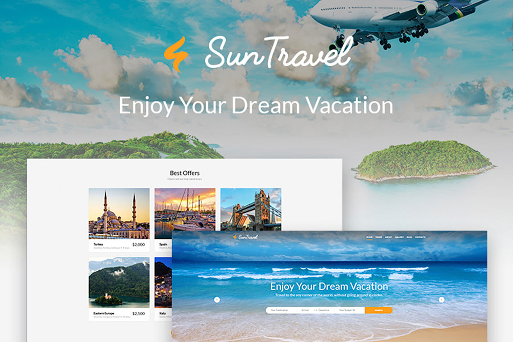 SunTravel - Travel Agency WordPress Theme