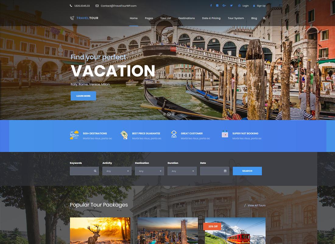 Travel Tour | Altair Travel WordPress Theme