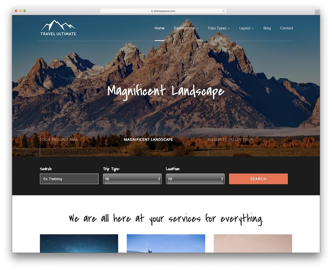 travel ultimate free wordpress theme