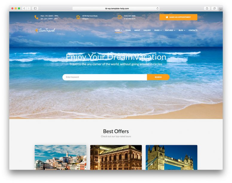 Top 12 Travel WordPress Themes 2018