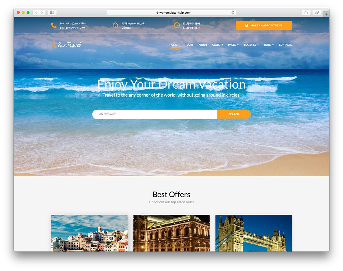 Top 12 Travel WordPress Themes 2019