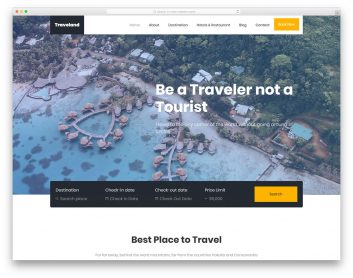Traveland Free Template