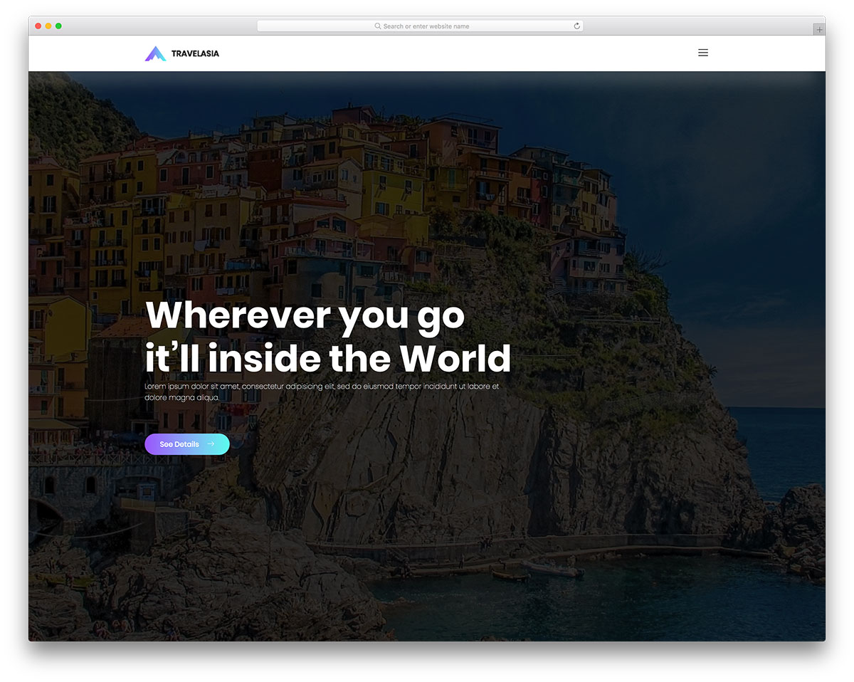 travelasia free mobile-friendly website template