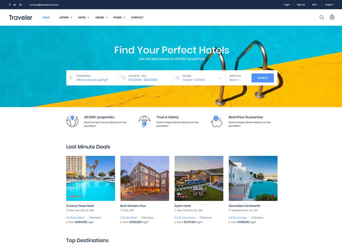 Traveler | Travel Booking WordPress Theme