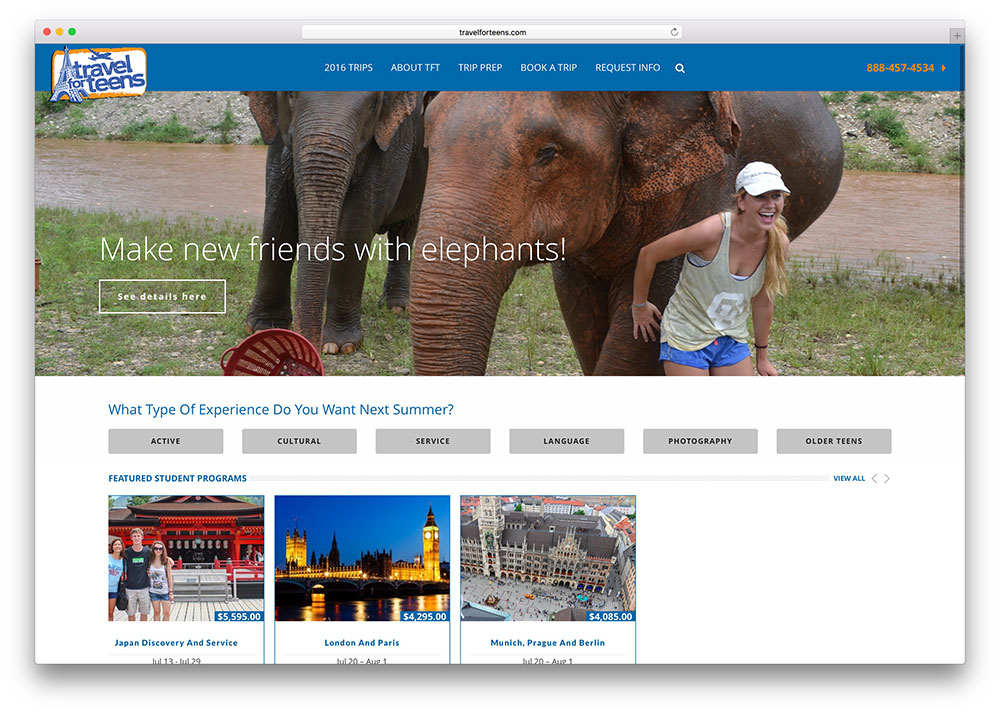 travelforteens-teen-travel-site-based-on-jupiter-theme