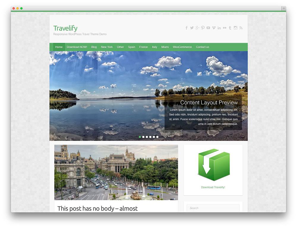 travelify - corporate travel theme