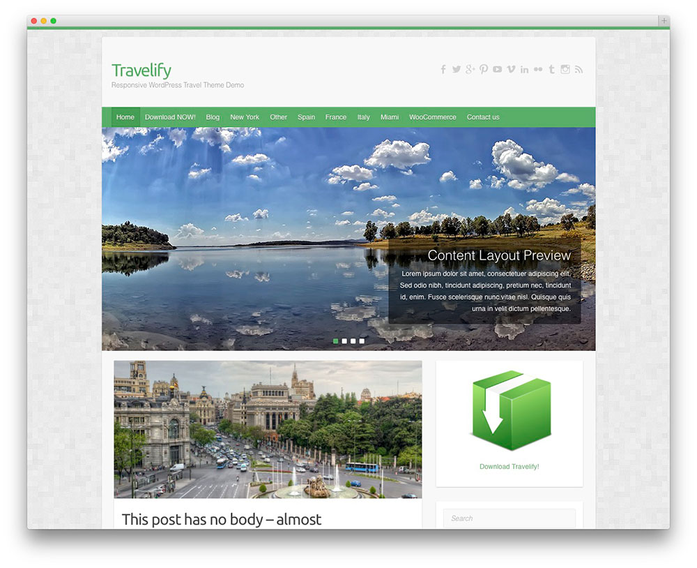 Travelify - Free Travel theme