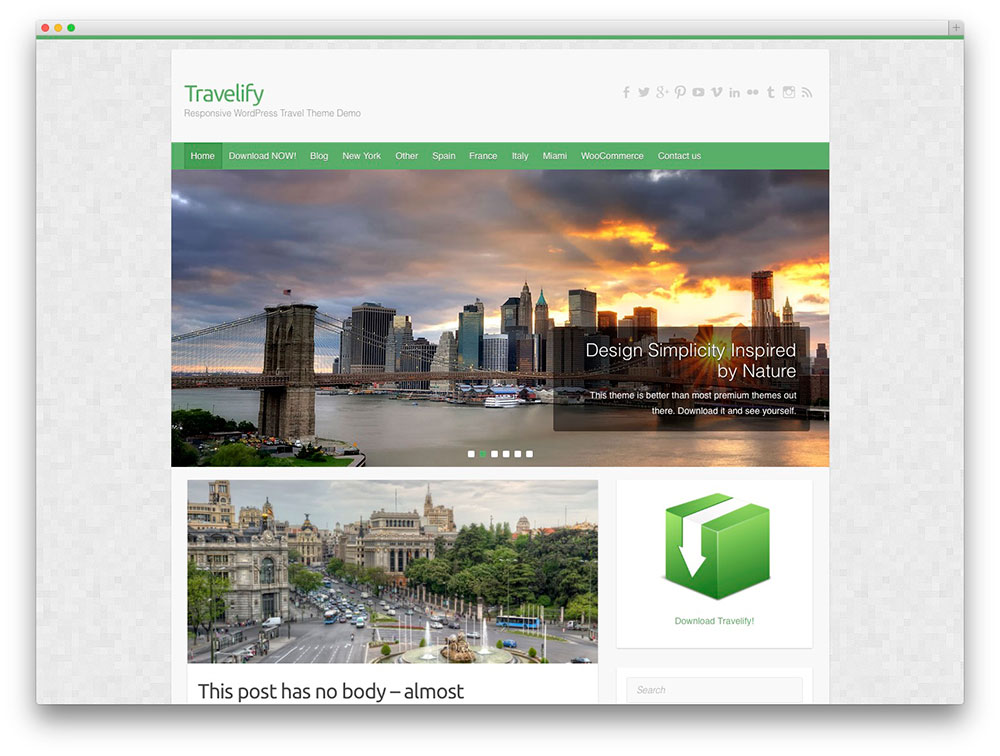 travelify - travel wordpress theme