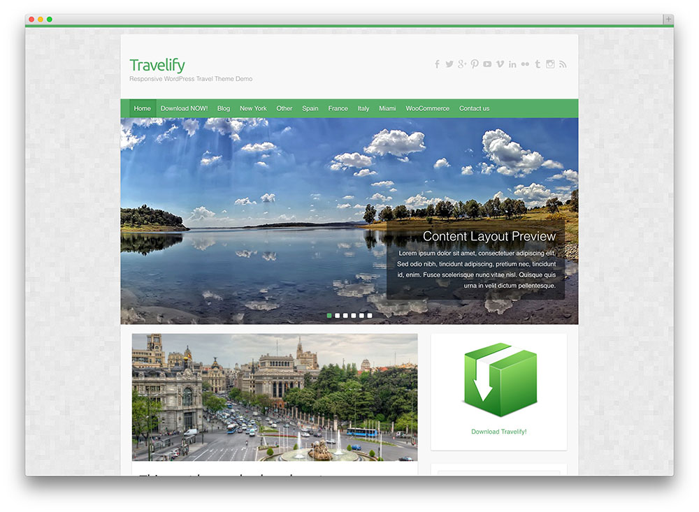 travelify travel theme
