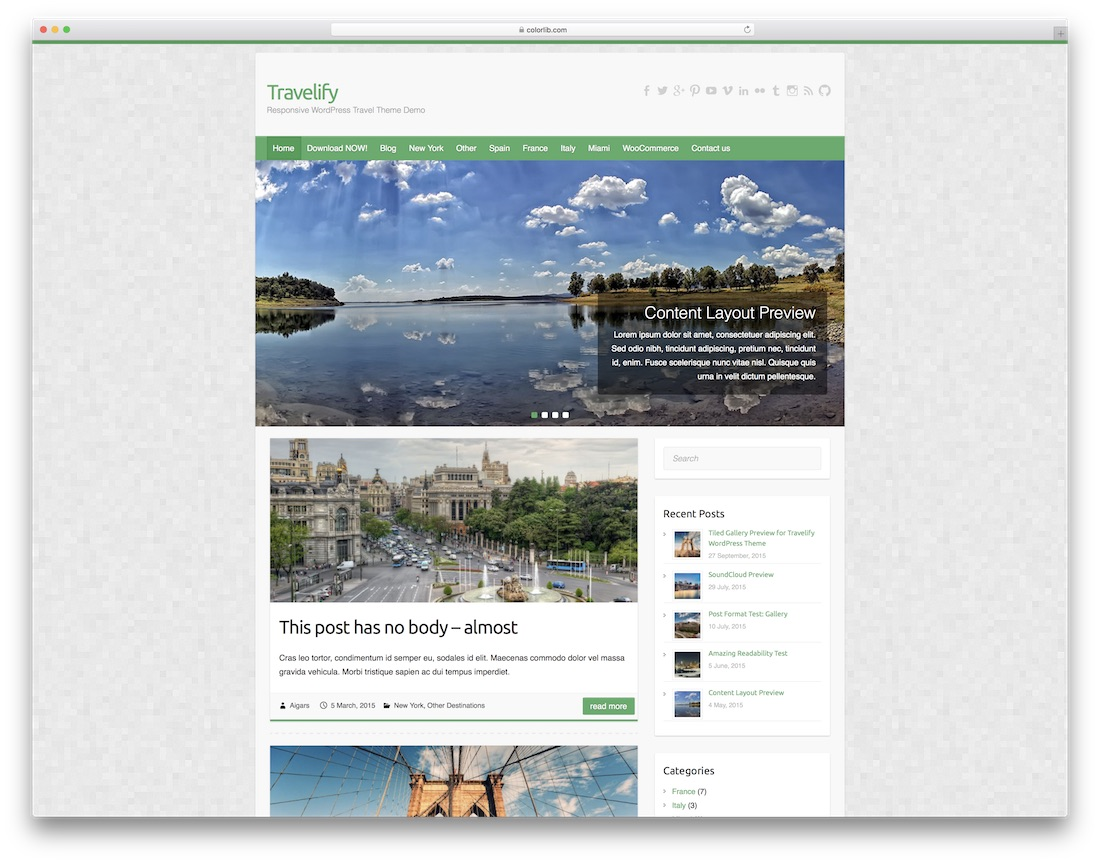 travelify website template