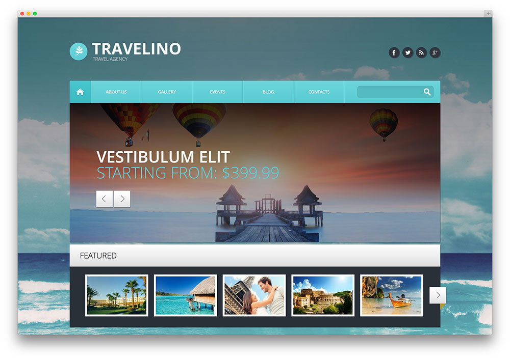travelino - travel agency wordpress theme