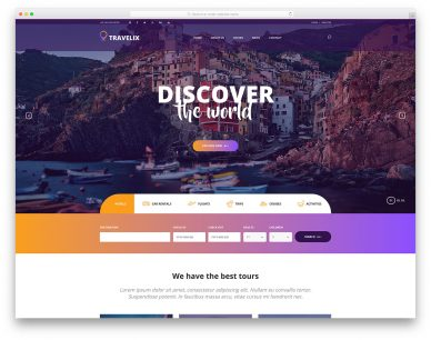 Travelix Free Template