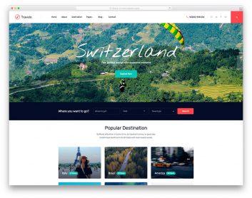 Most Popular Free Travel Website Templates 2020 Colorlib
