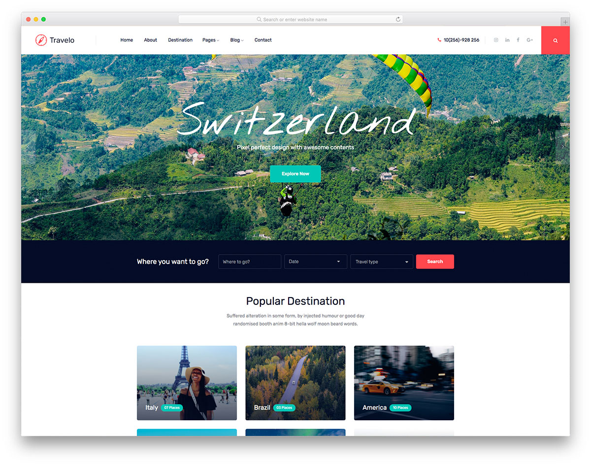 Travelo Free Template