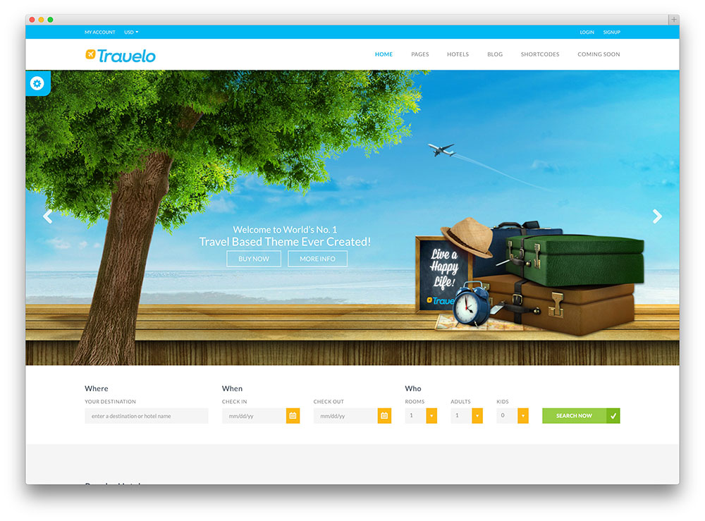 travelo travel agency wordpress theme