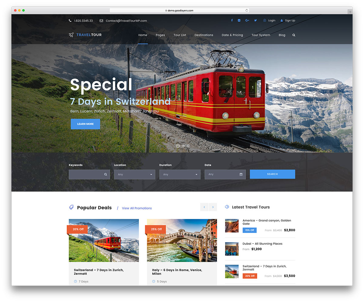 50 Best Wordpress Travel Themes For Blogs Hotels And