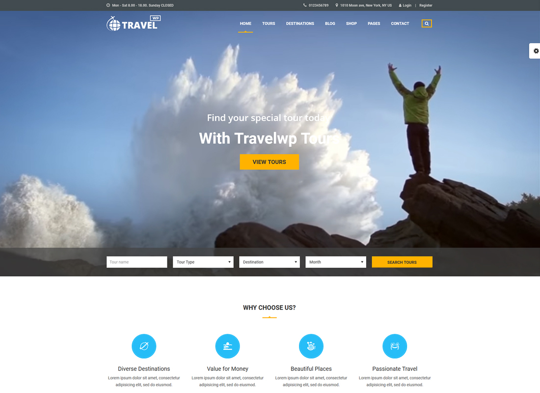 Travel WP | Travel Agency and Tour Operator WordPress Theme