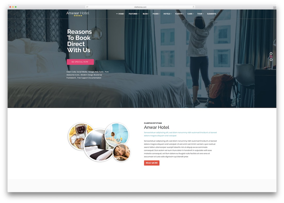 Travelz Html5 Hotel Website Template