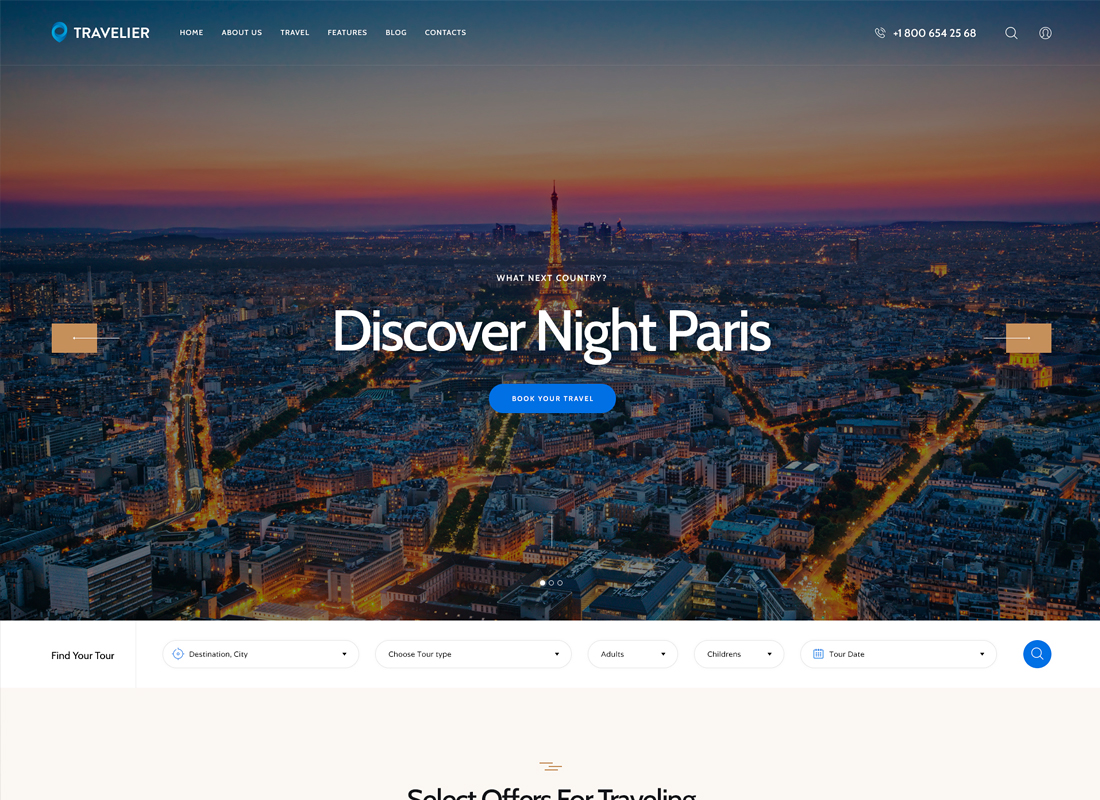 Travesia | A Travel Agency WordPress Theme