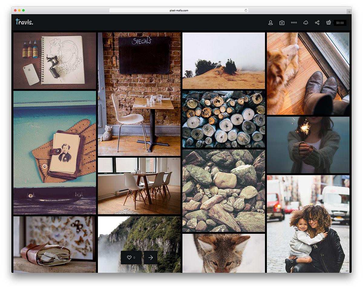 travis photography blog theme - 25 Marvelous WordPress Photography Blog Themes For Hobby and Professional Photographers 2018