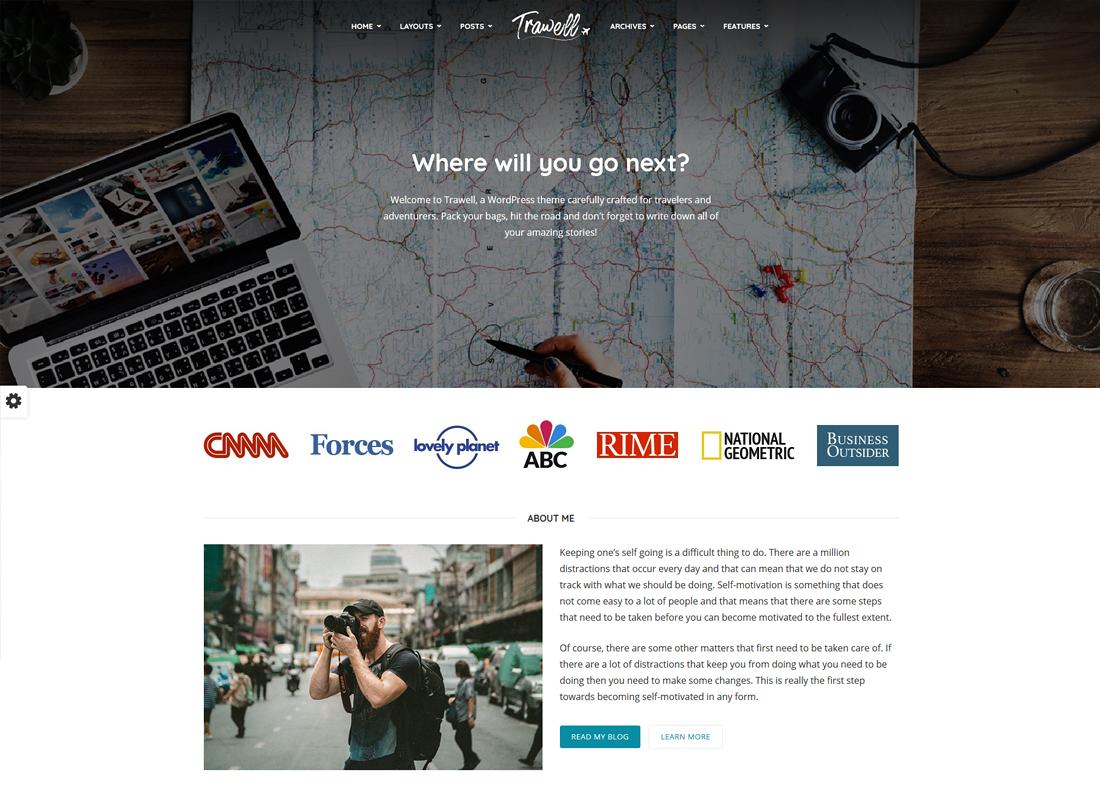 Trawell | WordPress Travel Theme