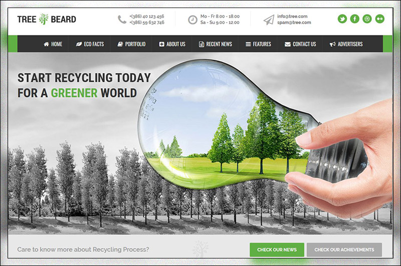 TreeBeard - Ecology/Environmental WordPress Theme