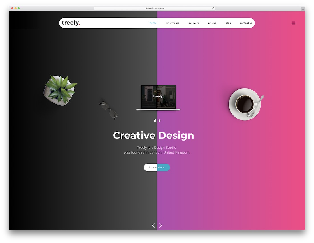 treely html5 one page website template