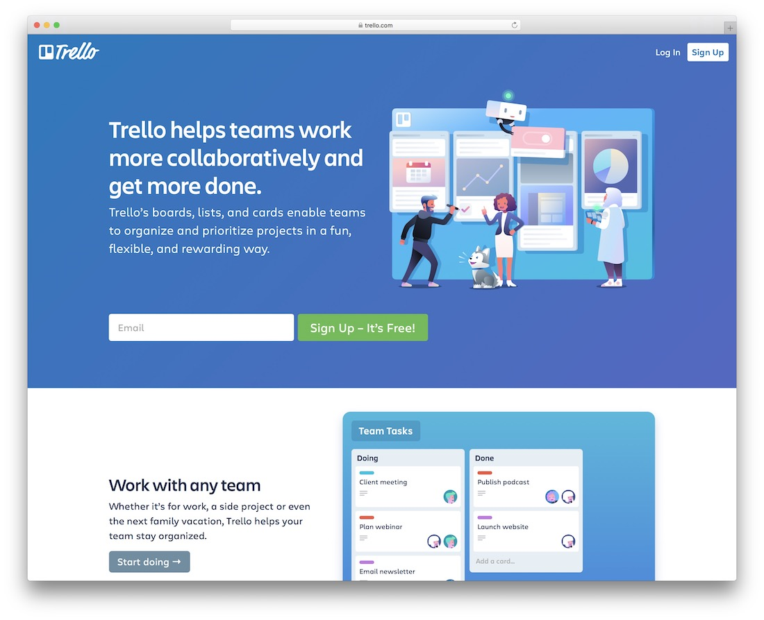 trello free productivity tool