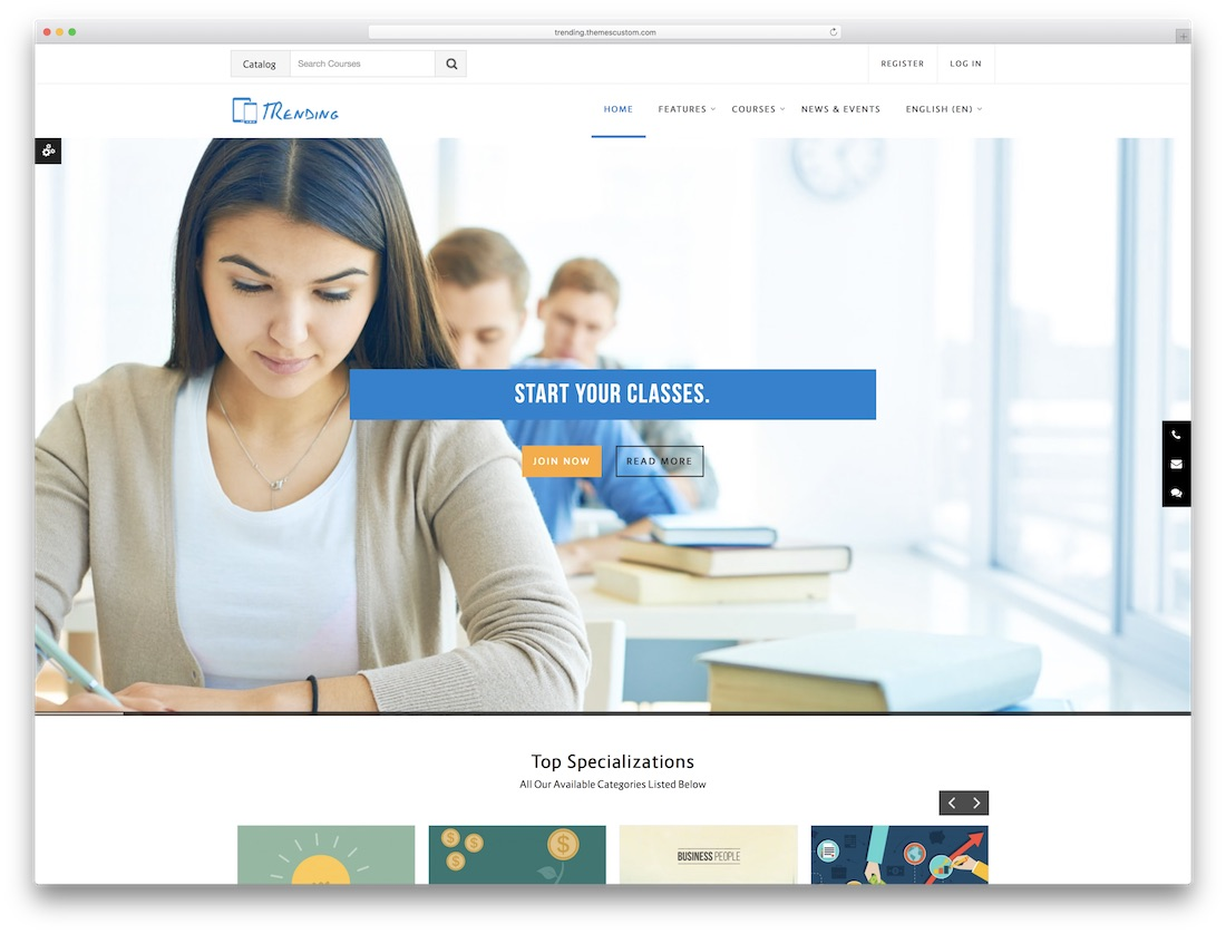 trending moodle bootstrap template