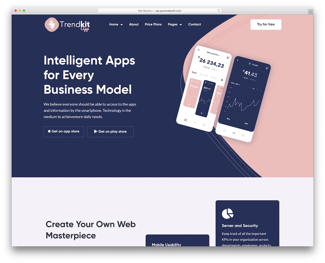 trendkit startup wordpress theme