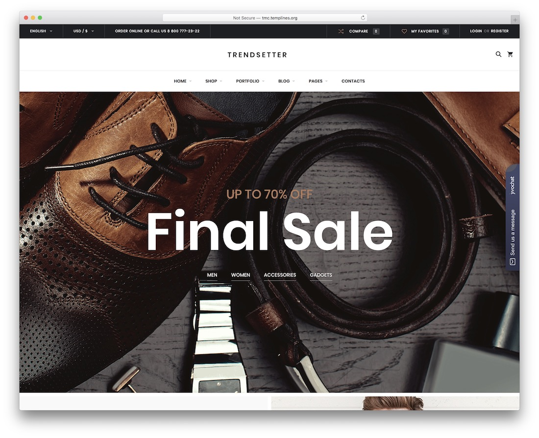 trendsetter wordpress shop theme