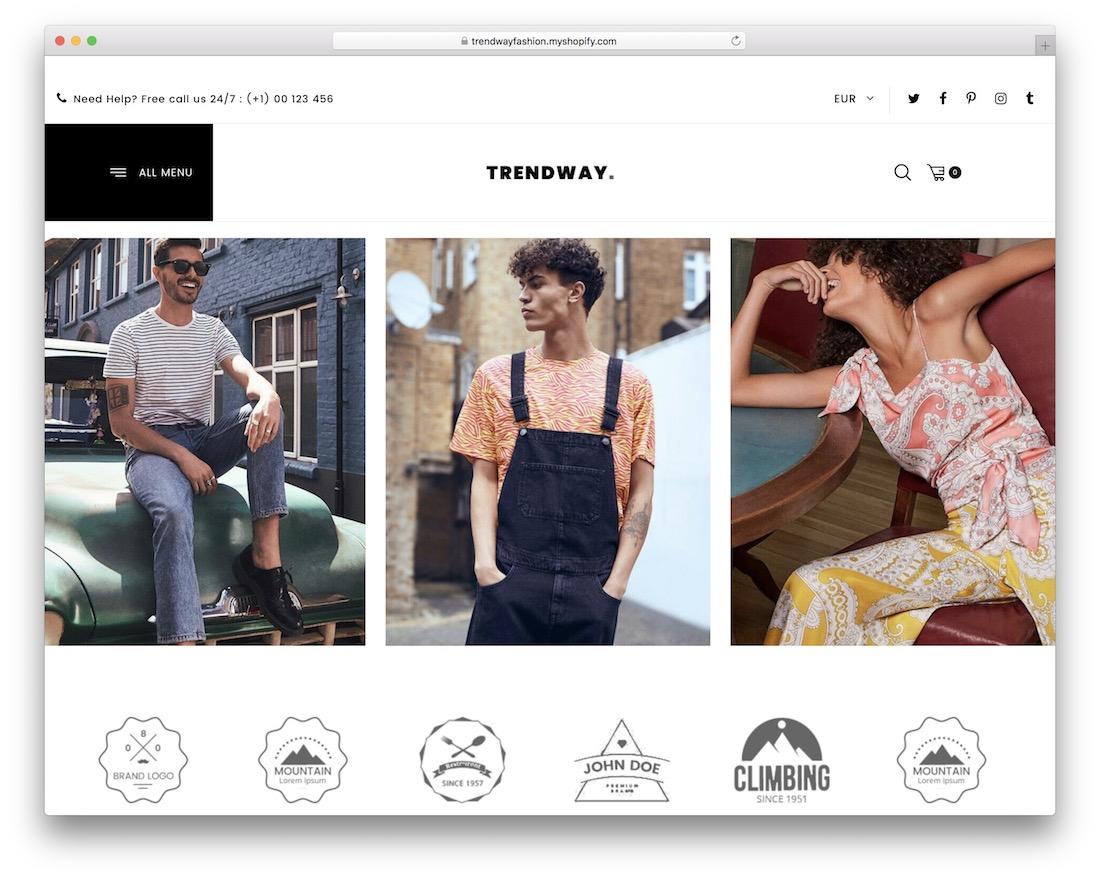 trendway fashionistas shopify theme