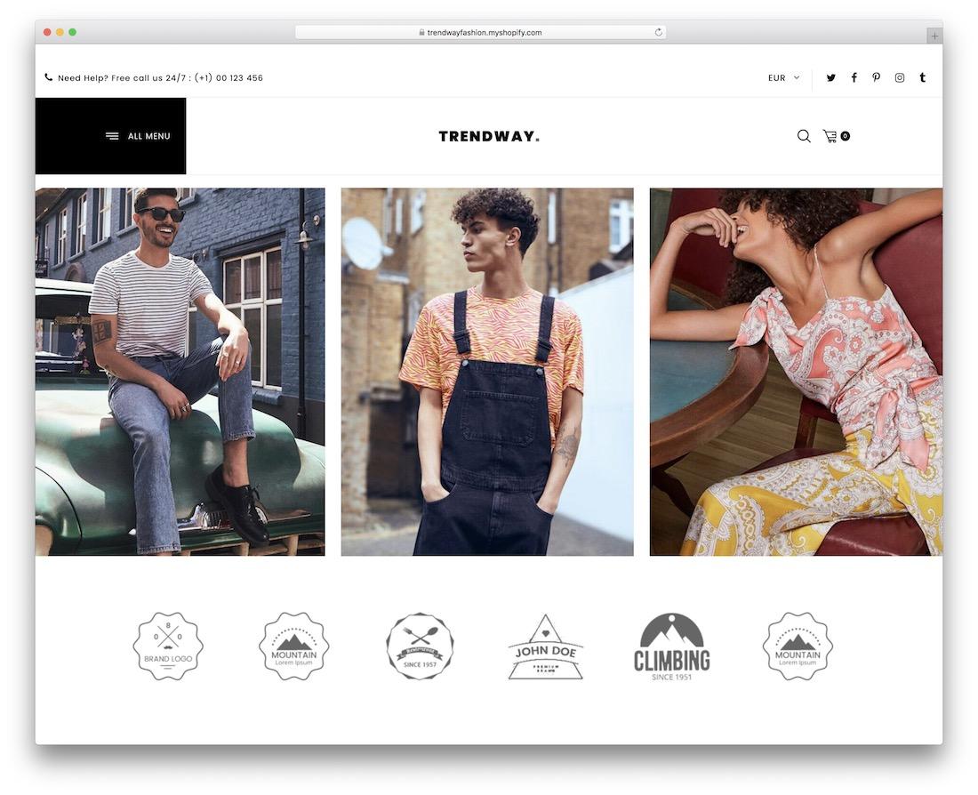 trendway shopify bootstrap theme